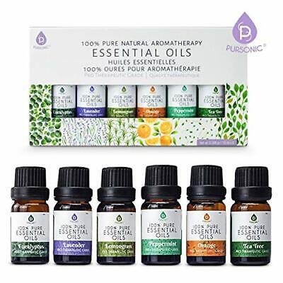 100 Pure Essential Oil Set For Diffuser Aromatherapy 6 PACK