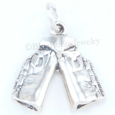 Horse Charm Jewelry - CHAPS Charm Cowboy Horse Jewelry Western Pendant Sterling Silver solid 925 3D
