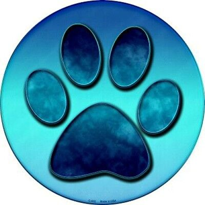 "Paw Print 12"" Round Metal Sign Novelty Canine Dog Man Cave Home Wall Decor"