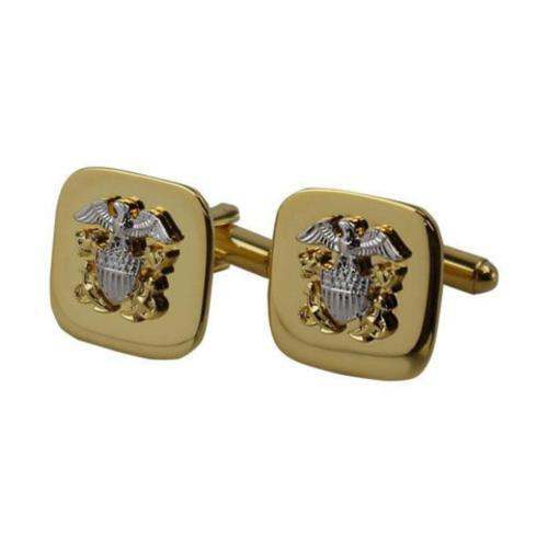USN NAVY CUFF LINKS GOLD OFFICER   NEW   (Made in USA)