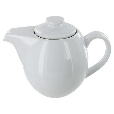Teaz Cafe Teapot with Stainless Steel Infuser - 24oz - White