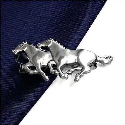 ISHOKUYA Unique Tie Clasps & Tacks Two horses Shape Tie Clip/Pin/Bar New