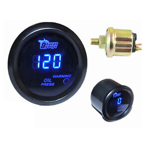 Car Motor 2 1/16 Inch 52mm Digital LED Electronic Oil Press Pressure Gauge