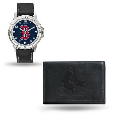 Sox Mens Leather - MLB Boston Red Sox Mens Leather Watch/Wallet Set Style: GC4913 $60.90
