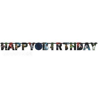 STAR WARS Classic JUMBO LETTER BANNER KIT ~ Birthday Party Supplies Decoration - Star Wars Birthday Decorations