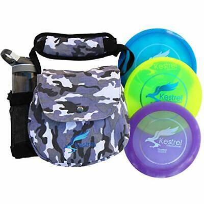 Kestrel Discs Golf Pro Set | 3 Disc Pro Pack Bundle + Gray Camo Bag | Disc Go...