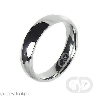 4mm Classic Traditional Wedding Band 316L Stainless Steel Ring Sizes 4.5 - 13 4mm Traditional Wedding Band Ring