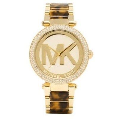 Michael Kors Women's MK6109 Parker Gold Tone Tortoise Shell Acetate Watch