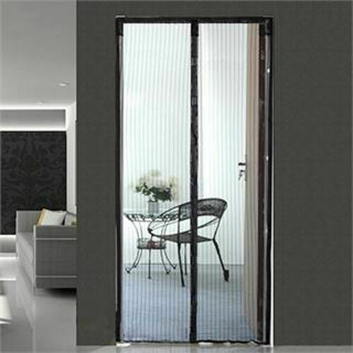 Hands-Free Magnetic Screen Door Mesh Net BLOCK Mosquito Fly Insect Bug Curtain 5