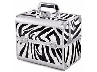 Large Zebra Print Vanity case/beauty