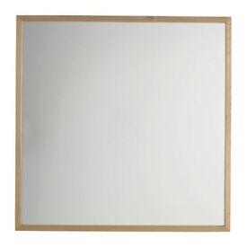 Oak Contemporary Square Mirror 70cm X 70cm