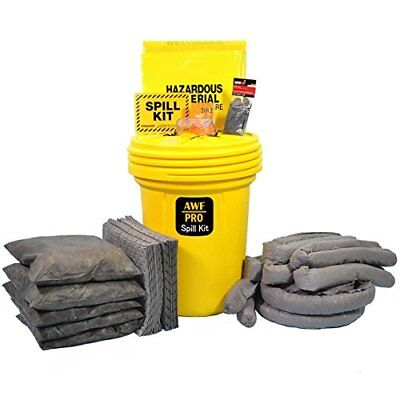 30 Gallon Spill Kit - 30 Gallon Universal Spill Kit, Pro Grade, 75 Pieces: Pads, Pillows, & Socks