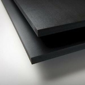 Black Sintra Pvc Foam Board Plastic Sheets 1 8 3 Mm 12 X 12