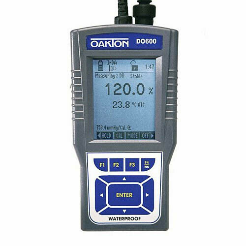 Oakton WD-35441-01 DO 600 Dissolved Oxygen/Temp. Meter w/Probe, NIST