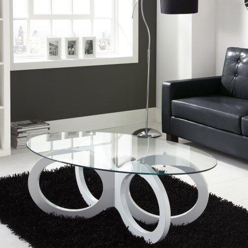 Tiffany White High Gloss Coffee Table New Box