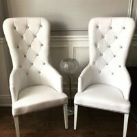 KING & QUEEN Chairs $175/pair RENTAL includes delivery & pick up