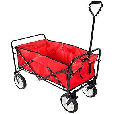 NEW! Heavy Duty Foldable Garden Trolley Cart Wagon Truck Wheelbarrow