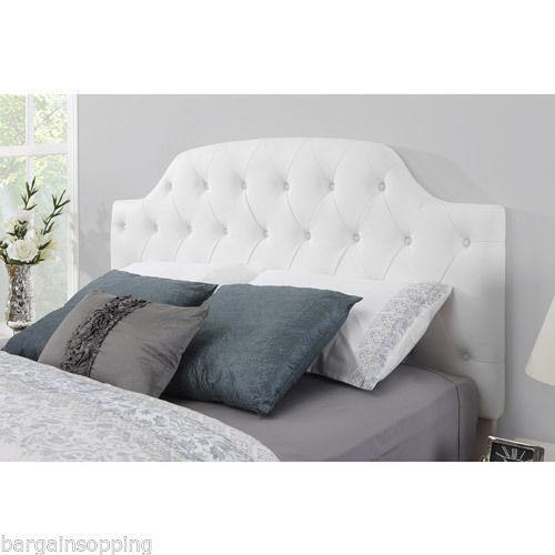 Queen White Tufted Headboard  eBay