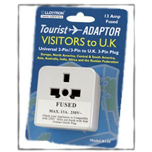 Lloytron A134 Travel Plug Adaptor For Visitors Tourists To UK - NEW Universal
