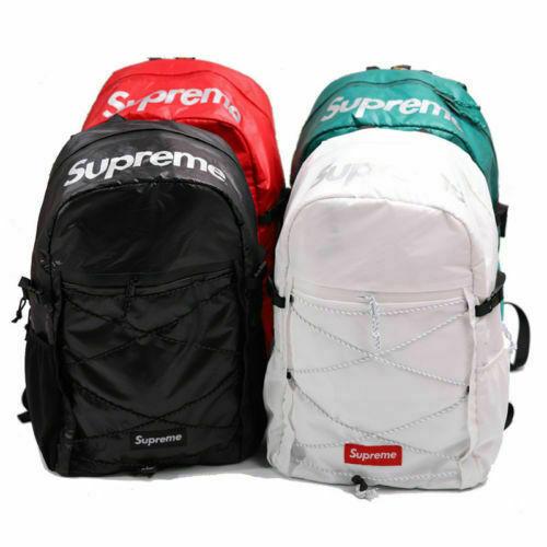 New Supreme²3M Backpack Shoulder bag Repeat Reflective FW16/17 school bag +