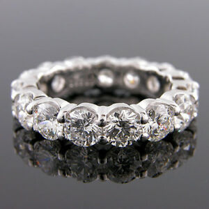 CERTIFIED 5.00 ct. tw. Diamond Eternity Band Ring 14K White Gold