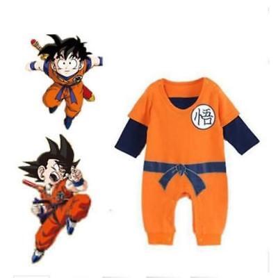 Newborn Baby Boys Long Sleeve Goku Romper Bodysuit Jumpsuit Outfits Clothes Sets Long Romper Set