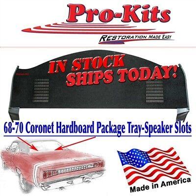 Mopar 68 69 70 Coronet Roadrunner 2 Door Rear Package Tray Shelf Slots same Dire for sale  Cosby