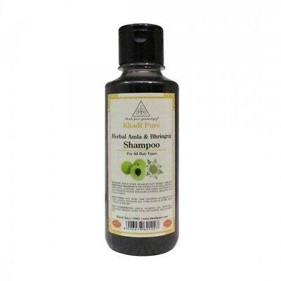 Khadi Pure Herbal Natural Amla & Bhringraj Shampoo Sls & Paraben Free 210ml ()