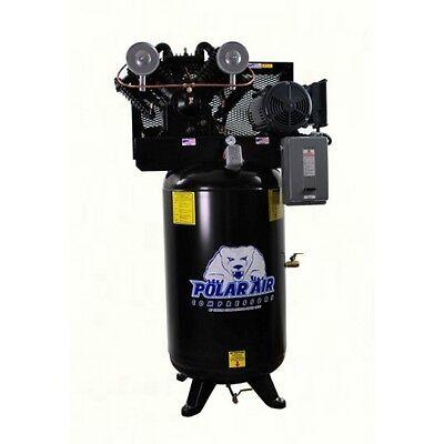 7.5hp V4 Singe Phase 80 Gallon Vertical Air Compressor