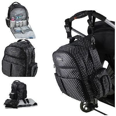 Unisex Baby Large Capacity Diaper Changing Bag Travel Backpack Organizer System