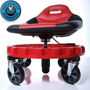 Mechanics Chair Seat Tools Work Stool Garage Creeper Tray