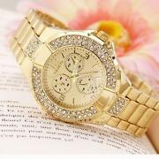 Mens Gold Plated Watch