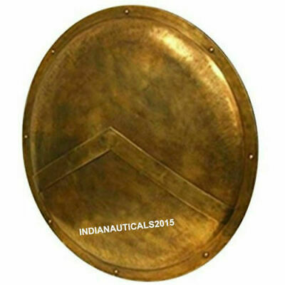 Vintage handmade 300 King Leonidas Spartan Medieval REPLICA Shield full size  - King Leonidas Spartan Replica Shield