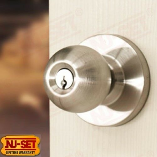 Commercial Grade Entry Knob Lock UL Listed with Schlage SC4 Keyway