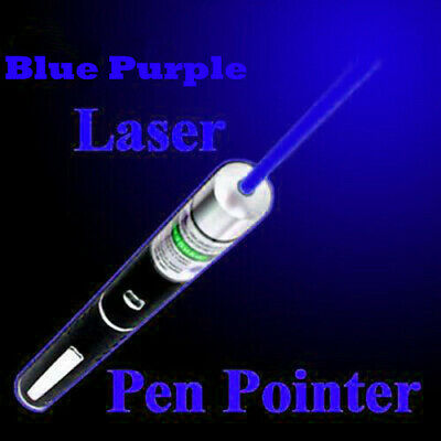 200Miles Blue Purple Laser Pointer Pen 405nm Visible Beam Light Astronomy Lazer