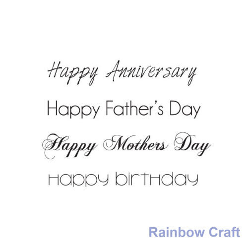 Kaisercraft mini stamps - 26 wording / patterns Scrapbooking card making - Happy anniversary