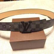 Louis Vuitton Belt Men Black