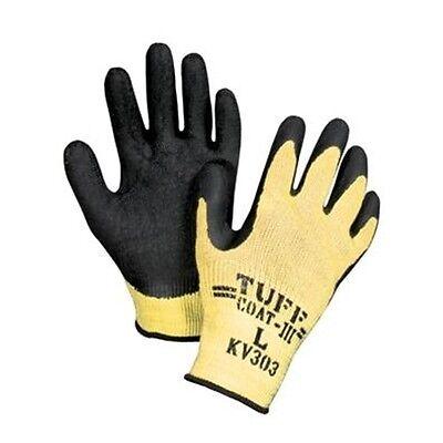 Honeywell KV303 Tuff-Coat Kevlar Cut-Resistant Latex Coated Gloves Size LG & XL Business & Industrial
