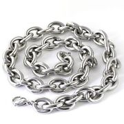 Mens Stainless Steel Necklace Heavy