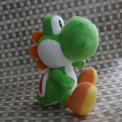 Nintendo Super Mario Bros  Sidekick Yoshi  6  Green Plush Doll Toy Xmas Gift