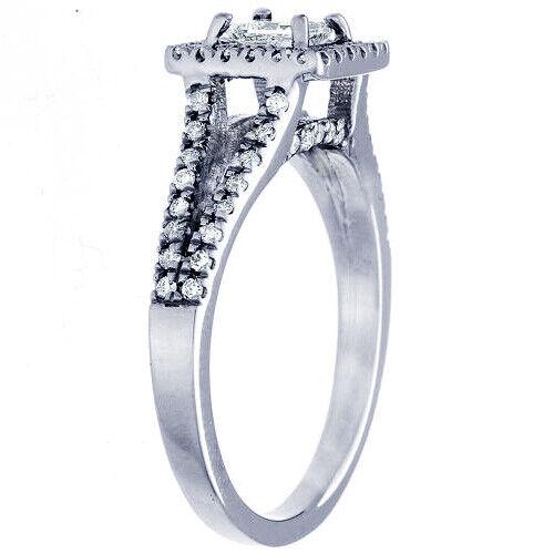GIA Certified Diamond Engagement Ring 1.65 Carat Princess Cut 14k White Gold  4