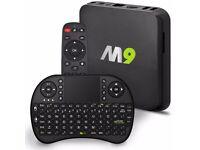 Genuine M9 Android TV Box KODI Fully Loaded 2GB/8GB Version Free Telly Custom Build installed