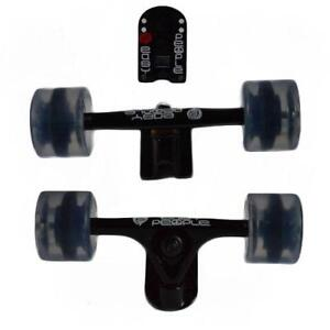 Easy   People Longboards Black Truck set Gel Wheels,Spacer,ABEC-7