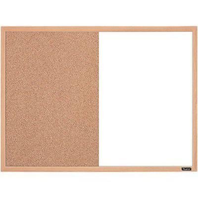 Standard Dry Erase And Cork Combination Board 17x23 Inches Oak Frame Whiteboard
