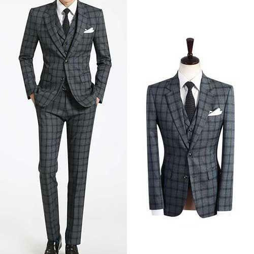 Mens Slim Fit 3 Piece Suit | eBay