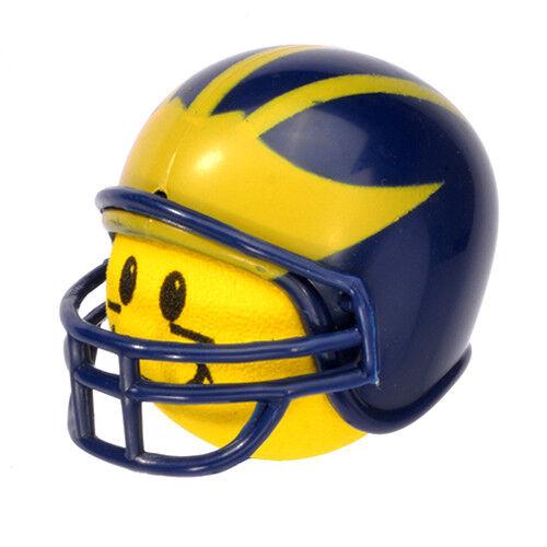 Michigan Wolverines Helmet Head Antenna Ball / Desktop Bobble Buddy (Yellow)