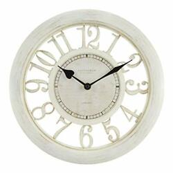 Wall Clock Large Living Room Decoration Modern Big Office Antique White Quartz