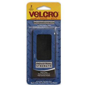 Velcro-2-Pack-90199-2-x-4-Black-Velcro-Industrial-Strength-Strips