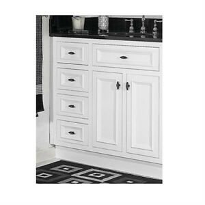 jsi danbury 36 white 3 drawer bathroom vanity base cabinet w solid