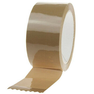 6 ROLLS OF BROWN VINYL (PVC) PACKAGING TAPE 48mmx66m